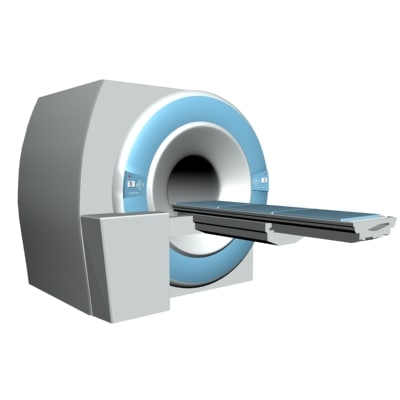 mri medical imaging machine 3d model
