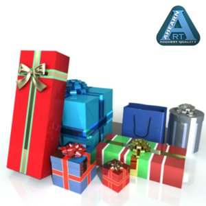 3d gifts wrapped