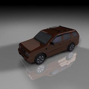 3d model isuzu rodeo vehicle