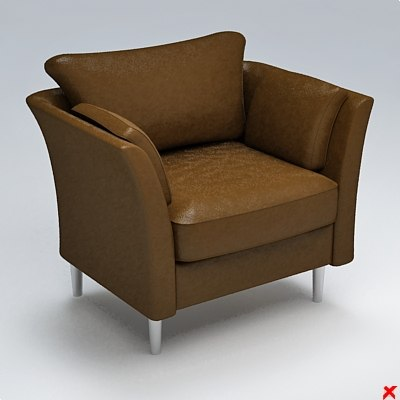 armchair chair 3ds