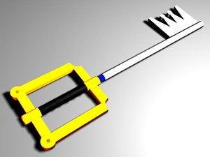 3d keyblade sora blades model