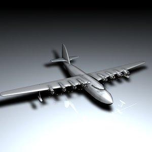 spruce goose 3d model