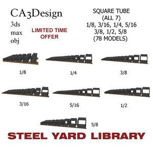 square tube 3d 3ds