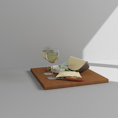 cheese wine 3d max