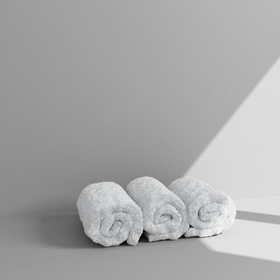 3ds max rolled towels
