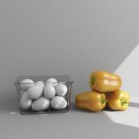 pepper eggs 3d max