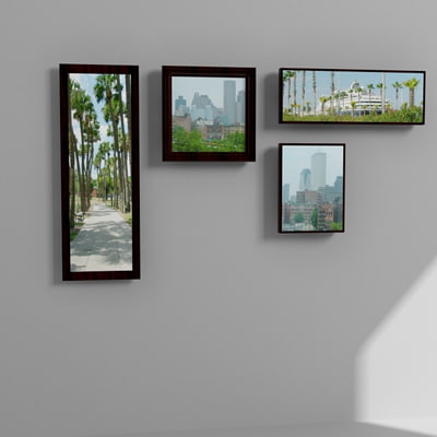3d model wall pictures