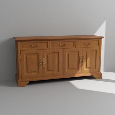 cabinet dresser 3d model