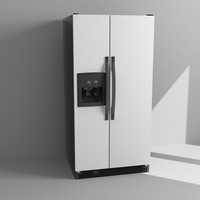 3d model refrigerator fridge
