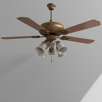 3d max ceiling fan light