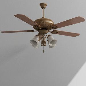 3d max ceiling fan light