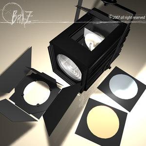 stage light - fresnel 3d model