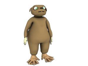 beaver character 3d model