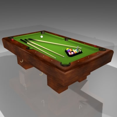 8-ball billiards table 3d max