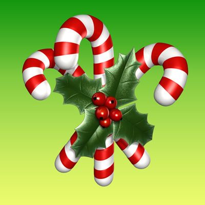 christmas candy 3d model