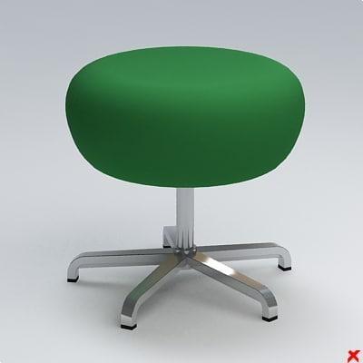 3d chair stool