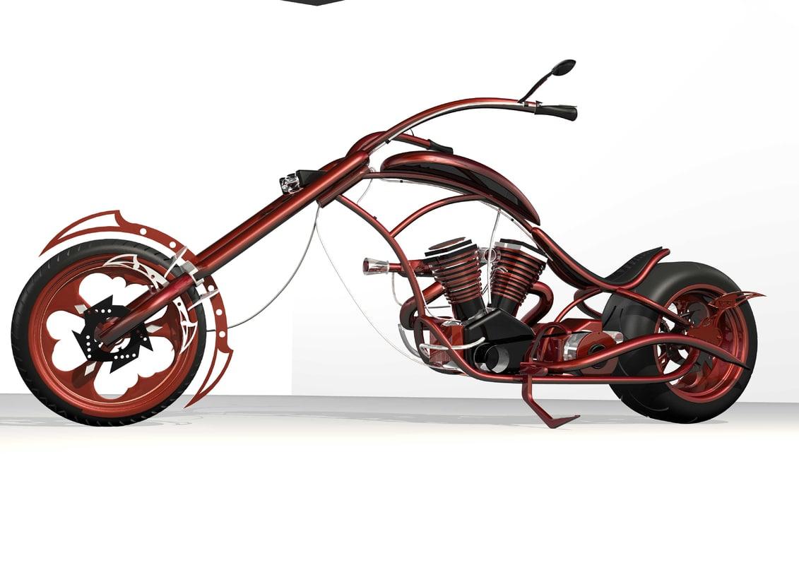 chopper motorbike 3ds