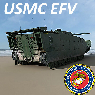 expeditionary fighting vehicle efv 3d model