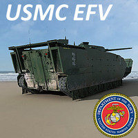 US Marine Corps Expeditionary Fighting Vehicle (EFV) Woodland Scheme MAX 3DS