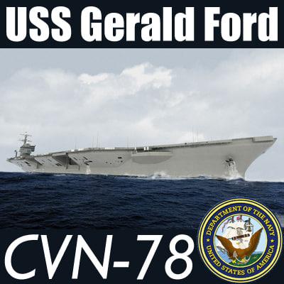 uss cvn-78 navy 3d model