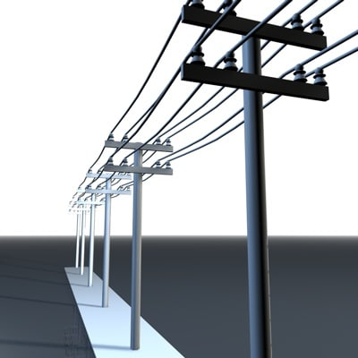 3ds max electric line