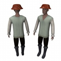 3ds max medieval farmer