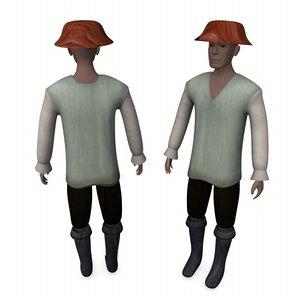 3ds max medieval farmer