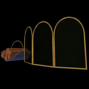 fireplace screen caddy pzfireplcp 3d model