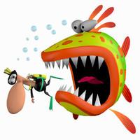 toon fish pzsg fshet 3d pz3