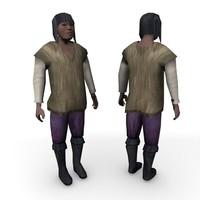3d model medieval innkeeper