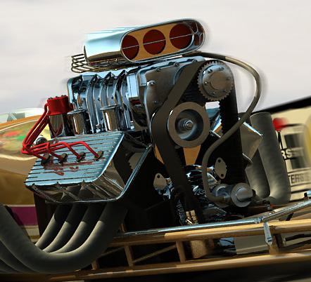 donovan hemi engine 3d model
