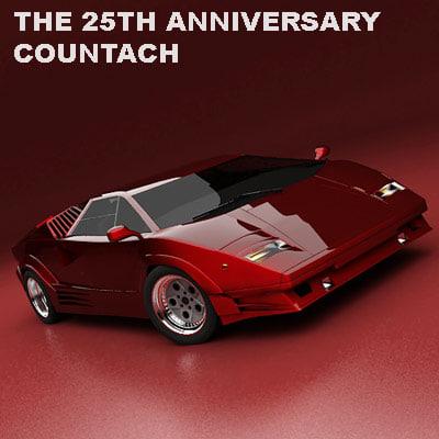 3d 25th anniversary countach