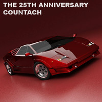 3d 25th anniversary countach