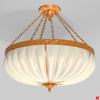 chandelier light lamp 3d model