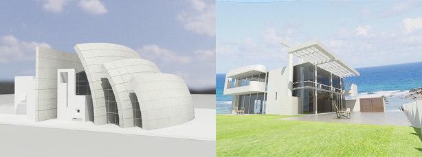 3d model beach house richard meier