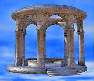3d elven monument model