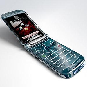 motorola razr2 v8 mobile phone 3d model