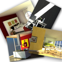 tuomo interiors living room 3d model