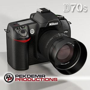3d nikon d70s dslr camera