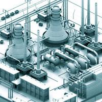 3d nuclear facilities model