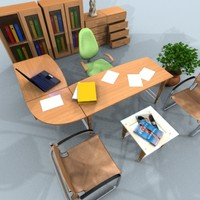 maya modular office set