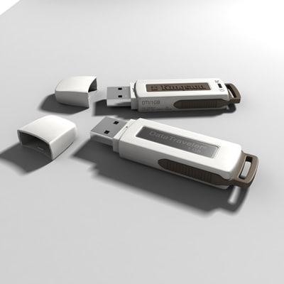 3d kingston pen drive model