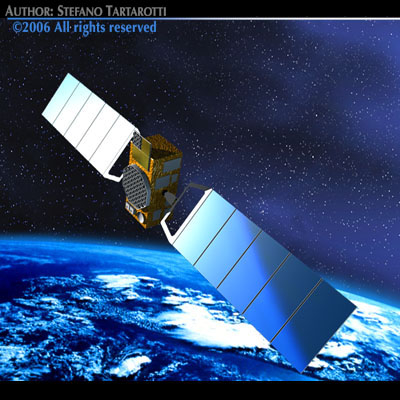 3d model satellite navigation earth