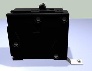 3d electrical breaker panel single