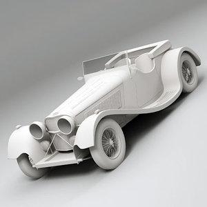 3d car sport oldtimer model