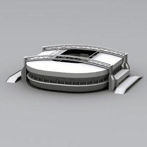 stadium building 3d model