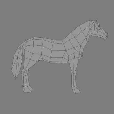 3ds max horse polygons