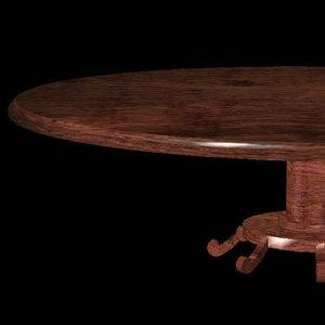 3d model of dining table pztbl rolg