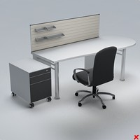 3d model office table