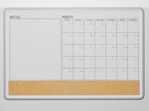 dry erase board 3d model